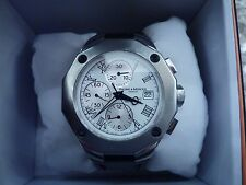 Men's Baume & Mercier Riviera Watch Chronograph White Dial