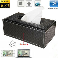 Mini 1080P WIFI HD SPY DVR Hidden Wireless Camera Tissue Box Video Recorders Cam