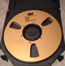 "3M 996 Audio Mastering Tape Gold Take Up Reel 1/2""x10.5"" Tape Care Plastic Case"