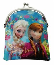 Disney Frozen Princess Anna Elsa 'Nordic Floral' Kisslock Purse Brand New Gift