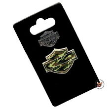 HARLEY DAVIDSON CAMOUFLAGE BAR AND SHIELD VEST PIN CAMO  MOTORCYCLE JACKET