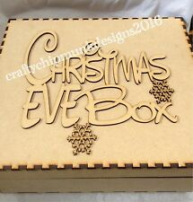 10 x Christmas Eve Box With Topper Can Personalised With Names 300x100 Mm Mdf