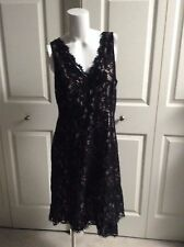 NEW ANN TAYLOR LOFT ELEGANT BLACK LACE SLEEVELESS DRESS SIZE 6