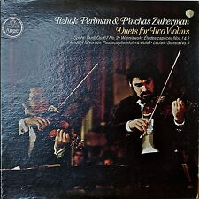 ITZHAK PERLMAN & PINCHAS ZUKERMAN: Duets for Two Violins-M1978LP QUAD LECLAIR++