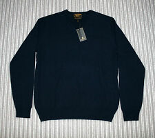 NEW WILLIAM HUNT PURE CASHMERE NAVY JUMPER SIZE S