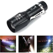 Zoomable 2200LM CREE XML T6 LED Flashlight w/ Clip High Power Super Torch Light