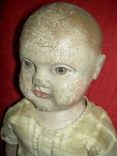 RARE antique, Philadelphia Baby cloth doll by JB Sheppard & Co. with photo 1900