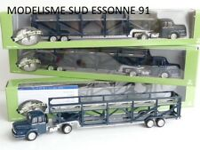 NOREV LOT DE 10 CAMIONS UNIC TRANSPORT D'AUTOS REF 550006 1/87 EME