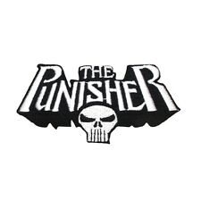 "Marvel ""The Punisher"" Skull Logo Patch Superhero Comic Book Fan Iron-On Applique"