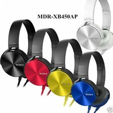 MDR-XB450 AP Stereo Headphone Earphone Headset Mic 3.5 mm Jack (multi color)