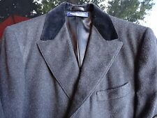 Vintage Brooks Brothers Wool Overcoat 40R Velour Collar Excellent