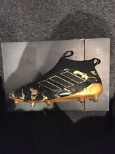 Genuine Adidas Pogba Pure control Ace 17 Black Gold Rare Football Boots 8.5