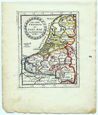 Carte ancienne DUVAL antique map 1670 PROVINCES DES PAYS-BAS Hainaut Hollande 8