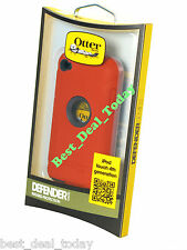 OEM Otterbox Rugged Defender Case For Apple Ipod 4 4G 4TH Gen Flash Orange Red