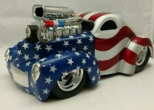 Muscle Machines Willys 1941 1:18 Custom slammed pro touring US Flag hotrod