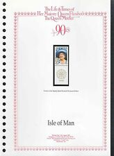 Isle Of Man 1990 Queen Mothers, 90th Birthday MNH Stamp On Page #V207