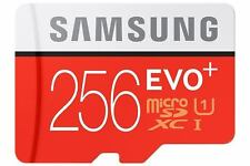 SAMSUNG MICRO SD 256GB EVO SDXC MEMORY CARD TARJETA CLASS 10 WITH FREE ADAPTER