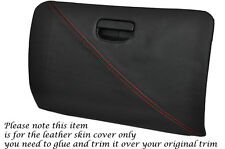 RED STITCH GLOVE BOX LID LEATHER SKIN COVER FITS MITSUBISHI EVO 4 5 6 IV V VI
