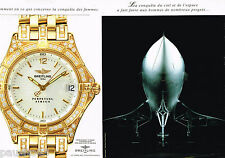 PUBLICITE ADVERTISING 065  1997  BREITLING  montre PERPETUEL SIRIUS ( 2p)