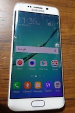Samsung Galaxy S6 Edge SM-G925T (Unlocked) 64GB White T-mobile AT&T - LCD DAMAGE