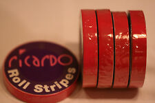 Job Lot(x5)Cerise Hot Pink 12mm  Single Coachline Tape Pin Stripe 8 Metres