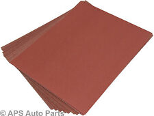 20 Wet Dry Sanding Sheets Sandpaper Metal Wood Painted Medium Coarse Fine Emery