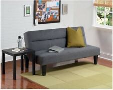 Kebo Futon Sofa Bed Microfiber Couch Sleeper Living Room Furniture Charcoal New