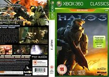 HALO 3 XBOX 360 - CLASSIC BEST SELLERS EDITION GAME - EXCELLENT CONDITION