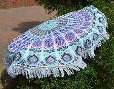 "46"" Round Tapestry Mandala Hippie Beach Rug Throw Bohemian Roundie Yoga Mat-20"
