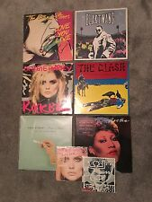 8 x RARE VINYL RECORDS DESIGNED BY BANKSY, DAMIEN HIRST, ANDY WARHOL, HARRING
