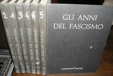 GLI ANNI DEL FASCISMO storia illustrata dell'Italia Mussolini 6 vol. Ciarrapico