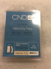 "CND Creative Nail Design Tips VELOCITY ""NATURAL"" Number 1-10. 1x 100/tray"
