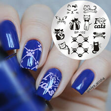 BORN PRETTY Nail Art Stamping Image Plate Stencil Cute Cats Design DIY BP-102