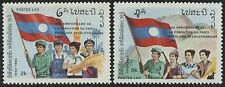 LAOS N°631/632** P.P.R.L. drapeaux, 1985 Flags revolutionary party Sc#675-676 NH