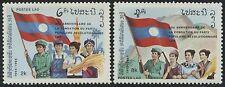 LAOS N°631/632** P.P.R.L. drapeaux, 1985 Flags revolutionary party Sc#675-676 NH