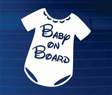 Baby On Board Car Window Windscreen Body Panel Bumper Decal Vinyl Sign Sticker