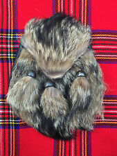 Mens Scottish Kilt Sporran Fox Fur/Fox Fur Head Kilt Sporrans Leather/Sporrans