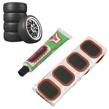 48pcs Bike Tire Bicycle Kit Patches Repair Glue Tyre Tube Rubber Puncture F7