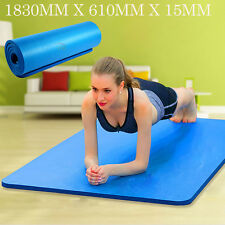 15MM Extra Thick NBR Yoga Mat  Non-Slip Gym Pilates Home Fitness Exercise Blue