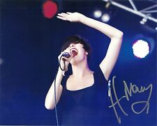 Autographed Hayley Mary Lead Vocalist of The Jezabels 8x10 Photo 5