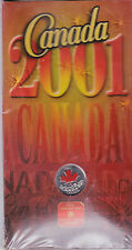 2001 Canada 25 cent Canada Day colored coin