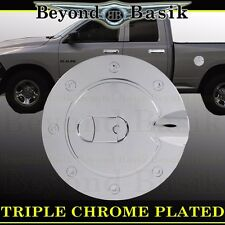 2010-2017 DODGE RAM 2500 3500 Gas Door Cover Chrome Fuel Cap Trim Overlays