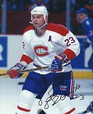 Autographed BRIAN BELLOWS Montreal Canadiens 8x10 photo - COA