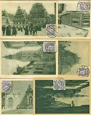 LATVIA: Lot 6 postcards 1924.