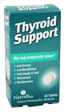 NATRABIO THYROID SUPPORT x60 Tablets / HOMEOPATHIC - LOW ENERGY & METABOLISM AID
