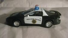 Highway Patrol Emergency Car In A Black & White Police Small Scale Diecast dc931