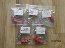 5x STANDARD Running ledger sea fishing  rigs 3/0  hook good 4 cod bass