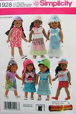 New Pattern 1928 Doll Clothes, Summer Wardrobe for 18 inch American Girl