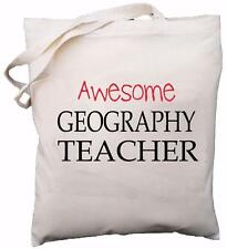 Awesome Geography Teacher - Natural Cotton Shoulder Bag - School Gift