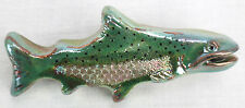 Raku Trout Drawer Cabinet Pull Fish ing Ceramic Hardware Handle Knob Lake River